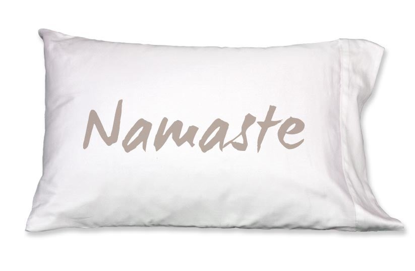 Image of NAMASTE Pillowcase by Faceplant Dreams
