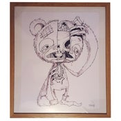 Image of Original framed HUGE Scare-Bear drawing!