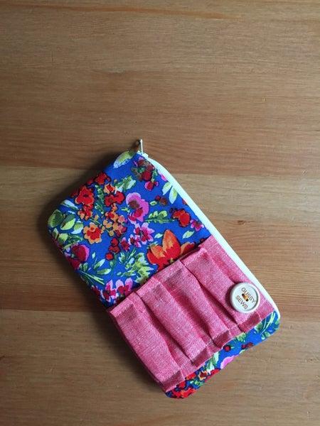 Image of Floral + Cherry medium zip