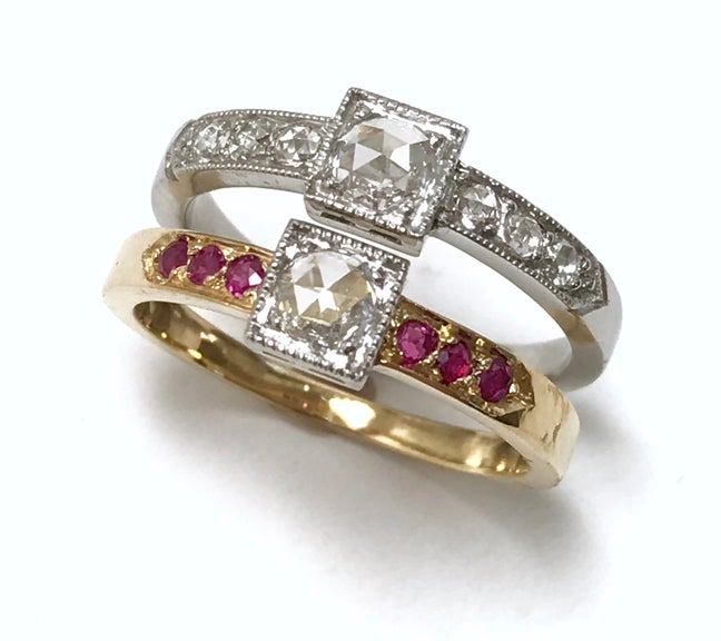 Image of Victoria Rosecut Diamond Ring