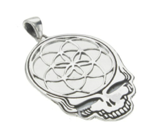 Image of Seed of Life in a Steal Your Face in Sterling Silver