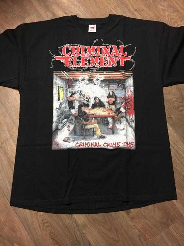 Image of CRIMINAL ELEMENT - Criminal Crime Time T-Shirt