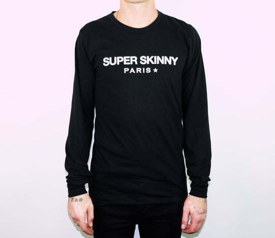 "Image of Black ""Super Skinny"" Long Sleeve Tee"