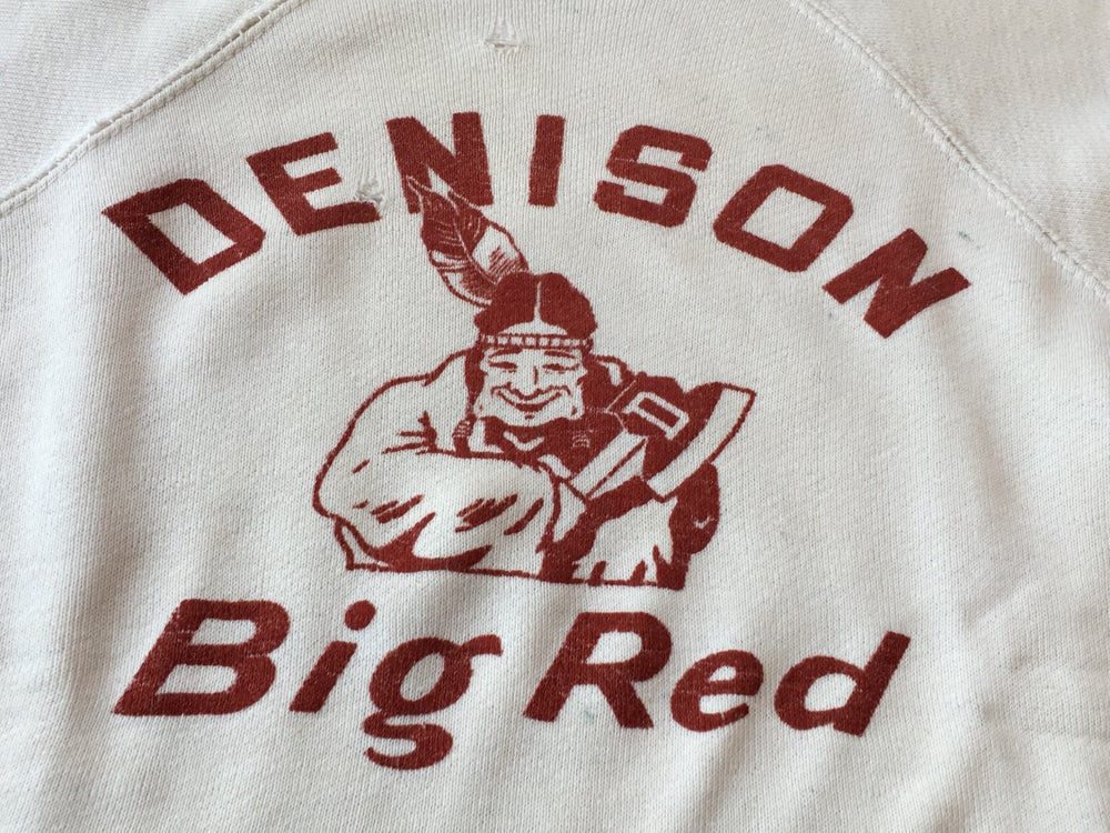 Image of VINTAGE SWEATSHIRT NATIVE AMERICAN  'BIG RED'