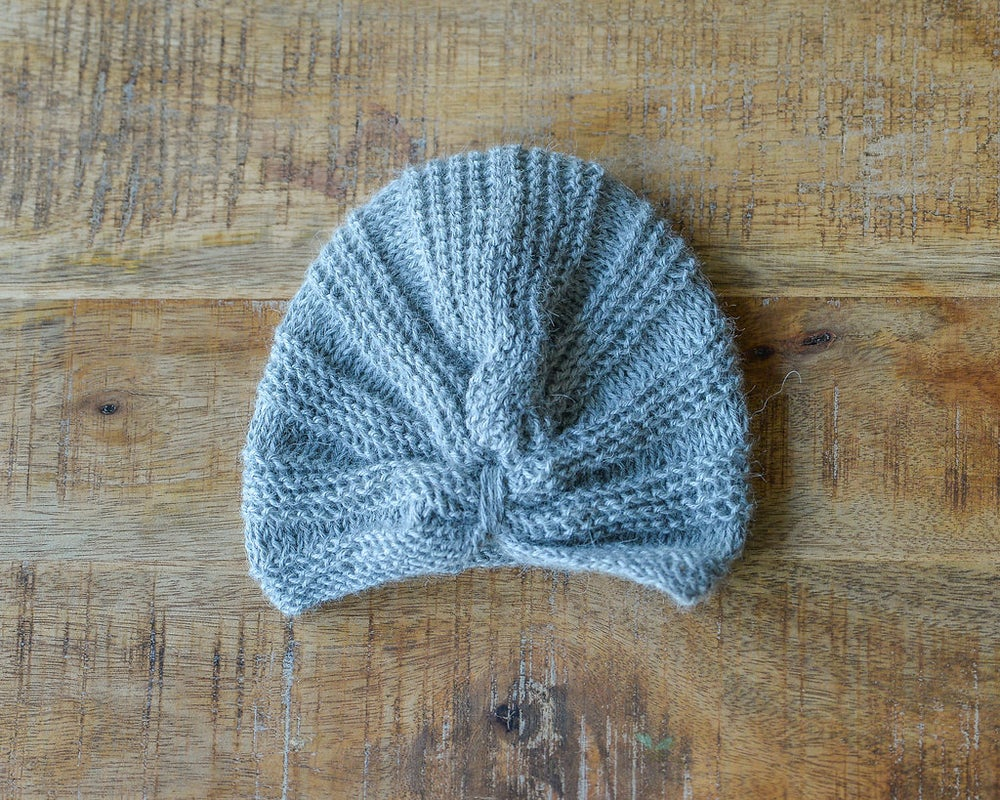 Image of BABY ALPACA WOOL TURBAN FOR BABY GIRL 3-12 months