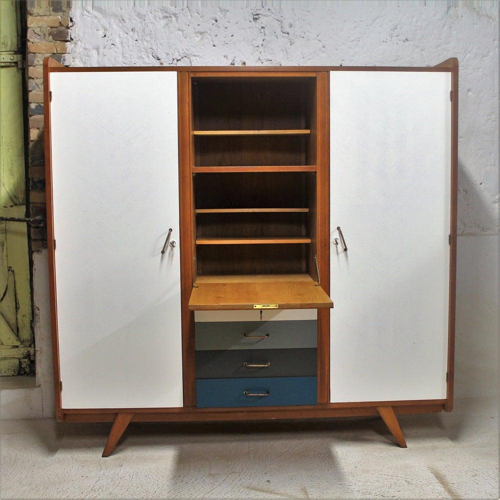 armoire dressing bureau ann es 60 fibresendeco. Black Bedroom Furniture Sets. Home Design Ideas