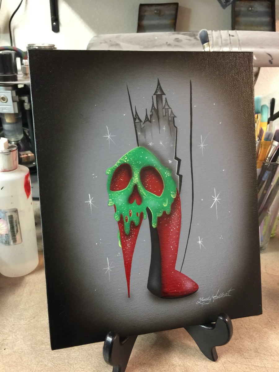 Image of Poison Apple High Heel Painting