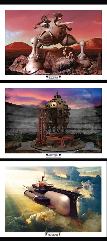 Image of Herr Döktor's Laboratory Limited Edition A3 Art Print- SET OF THREE