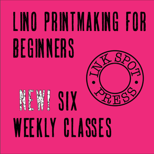 Image of LINO PRINTMAKING for BEGINNERS. Wed. eve. Jan. 18th - Feb. 22nd.  2017. 6.30pm. - 9pm. £160.00