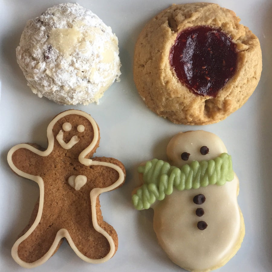 Image of holiday cookie gift box