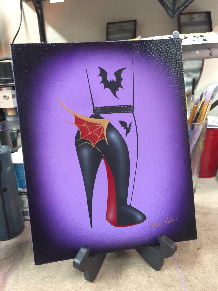 Image of Batty High Heel Painting
