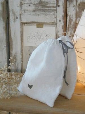 Image of Sac en lin blanc (SCCOEURGR)