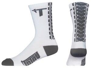 Image of TS-01 White/Grey Socks