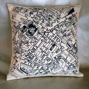 Image of Northern Quarter Manchester Map Cushion