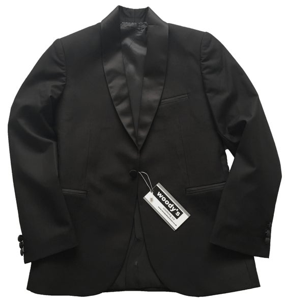 Image of Black Roll Collar Jacket