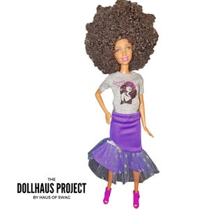 Image of Respect My Flyness | Curly Afro Doll
