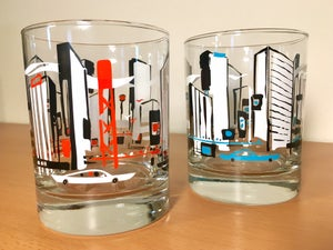 "Image of ""Touring the Town"" Cocktail Glass (Set of 2)"