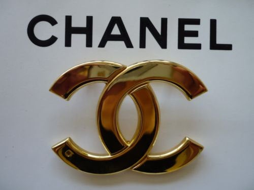 Image of Chanel Brooch - Authentic Vintage Signed Huge Brooch Pin