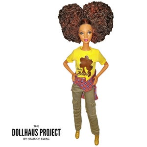 Image of Kinky Barbie | Afro Puff Fashion Collector Doll