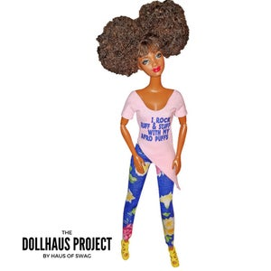 Image of Afro Puffs, Word To Lady Of Rage | Collector Fashion Doll