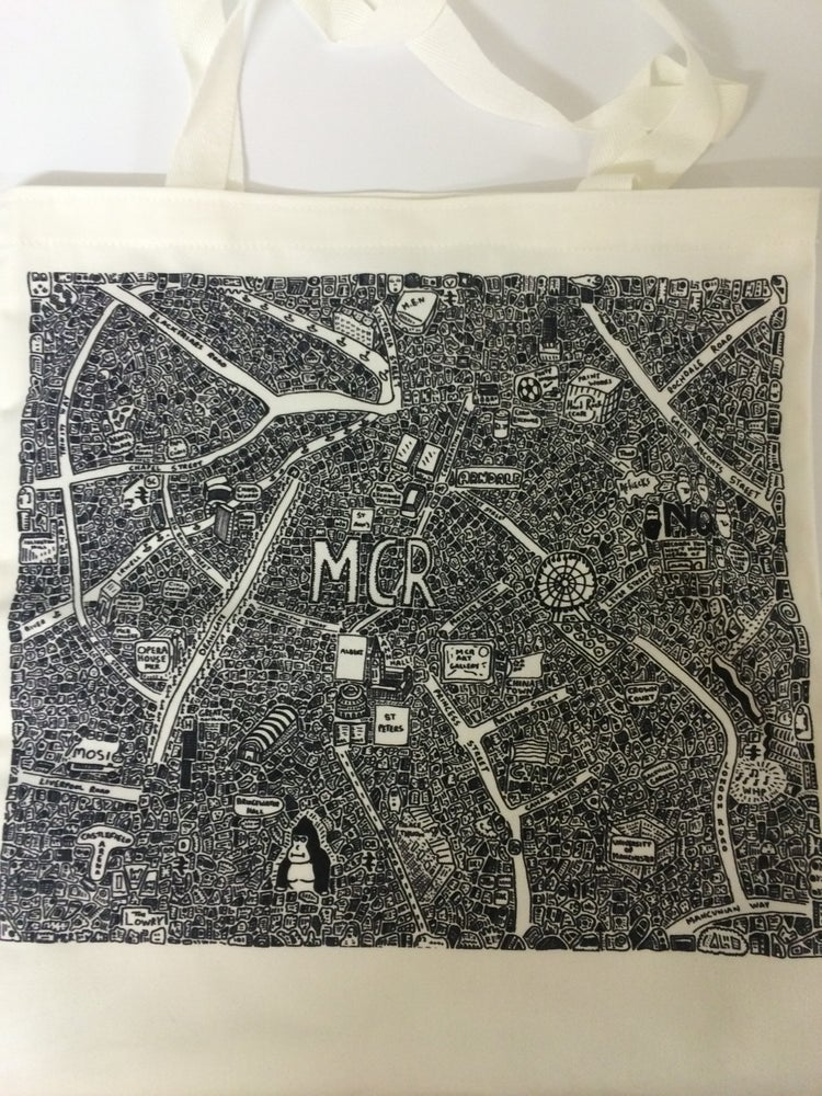Image of Manchester Doodle Map Tote Bag