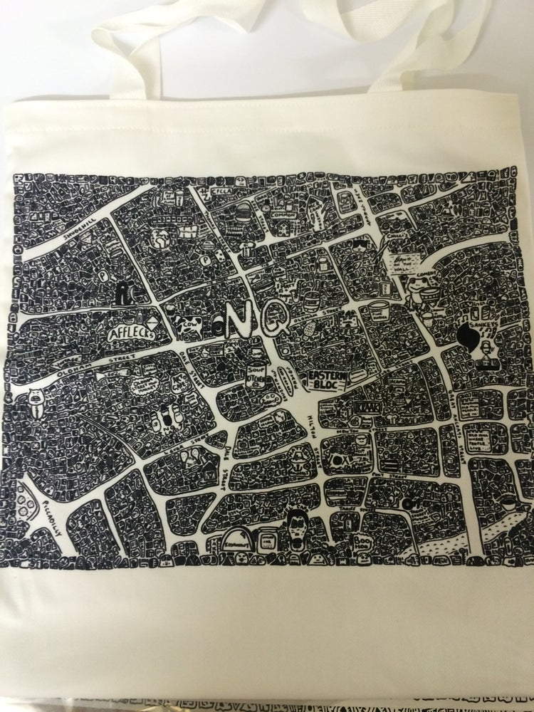 Image of Northern Quarter Doodle Map Tote Bag