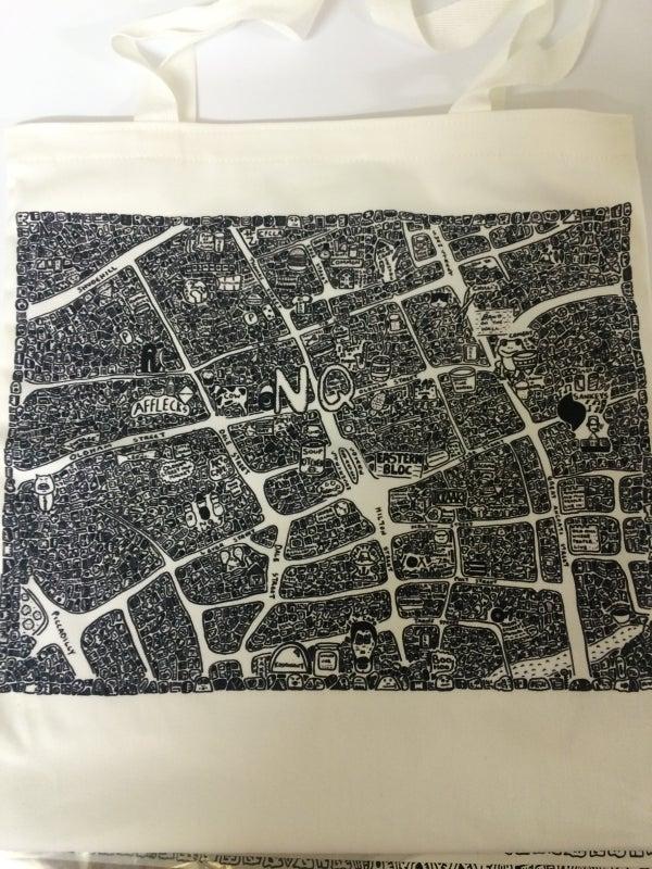 Image of Northern Quarter Doodle Map Tote Bag