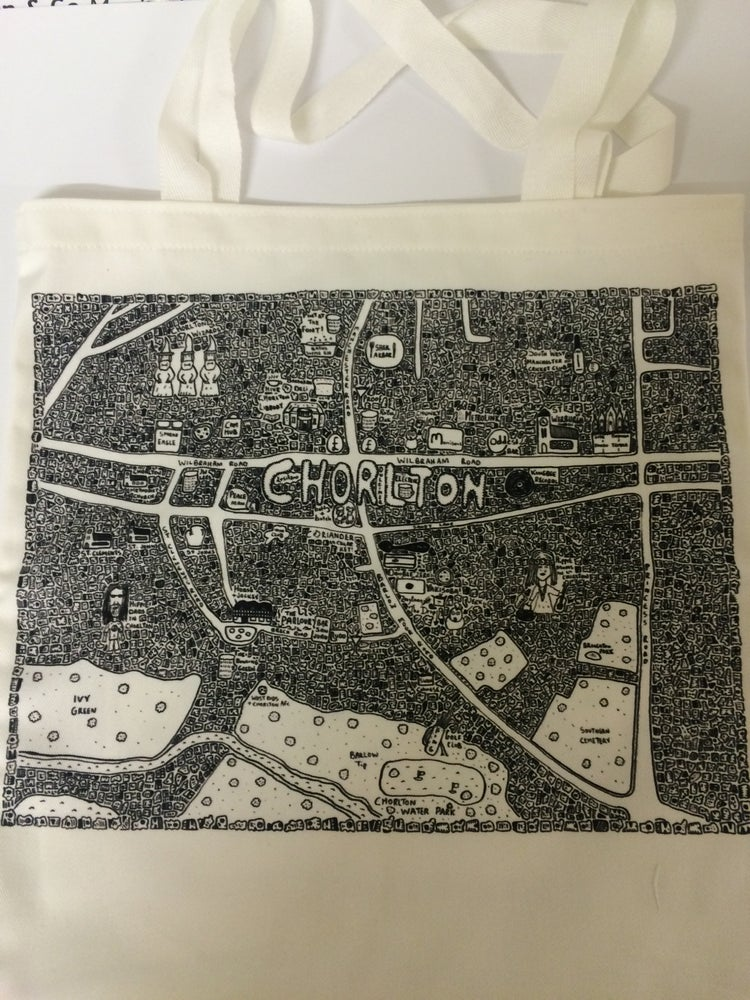 Image of Chorlton Doodle Map Tote Bag