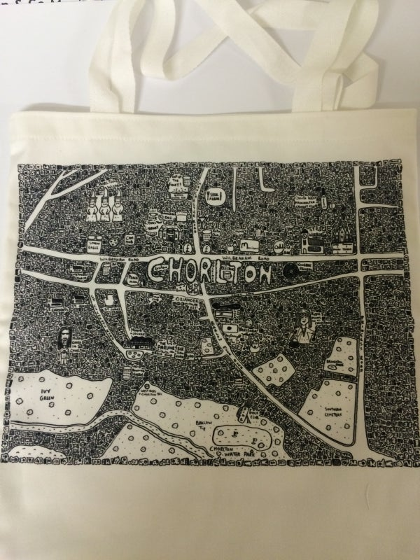 Image of Chorlton Doodle Map Tote Bag