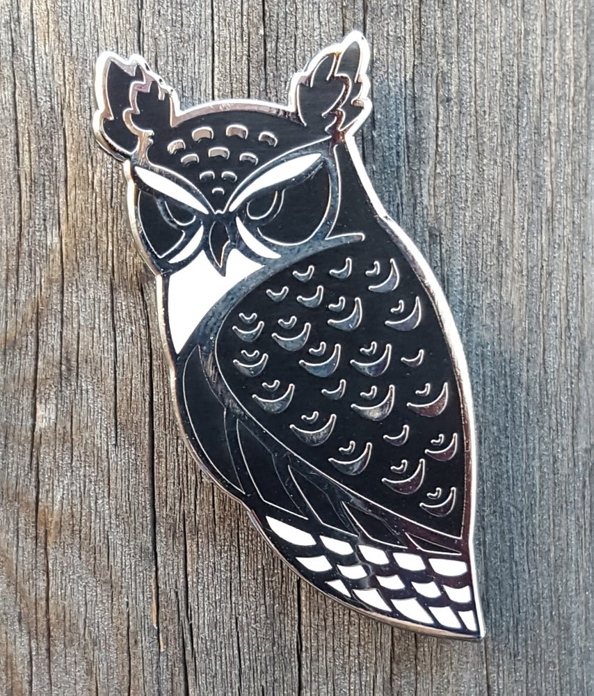 Image of Horned Owl Lapel Pin Pre-Order *Limited Quantities*