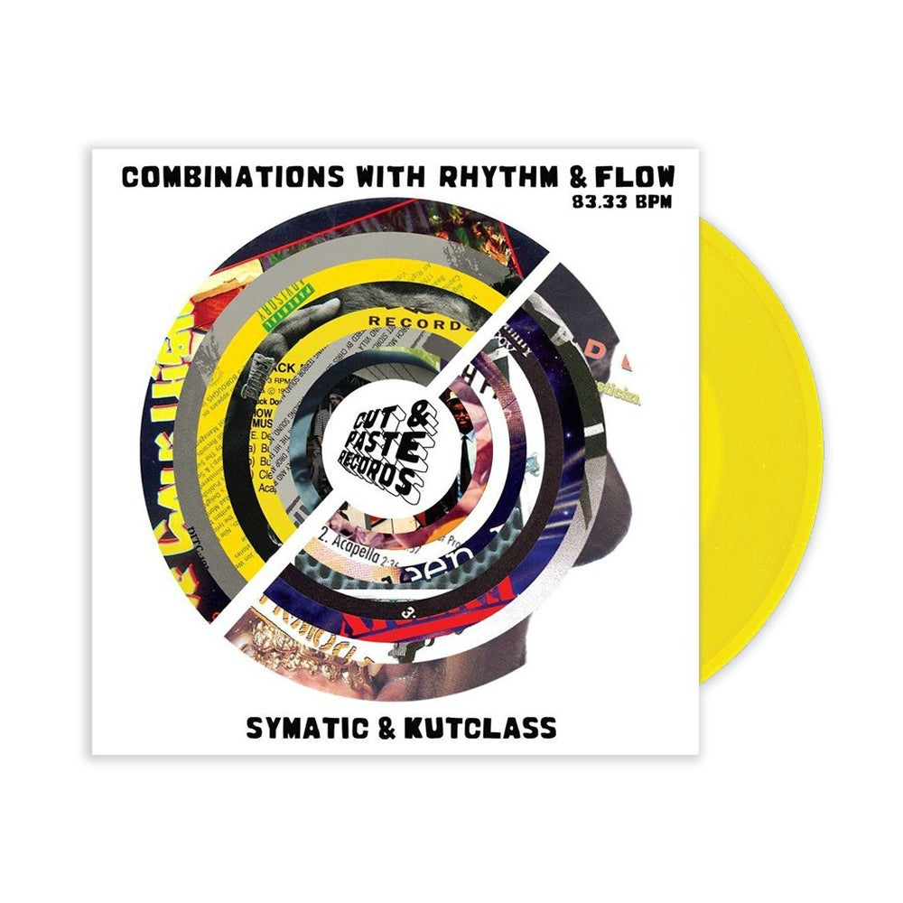 "Image of CUT & PASTE - Combinations With Rhythm And Flow (YELLOW 7"" SCRATCH RECORD)"