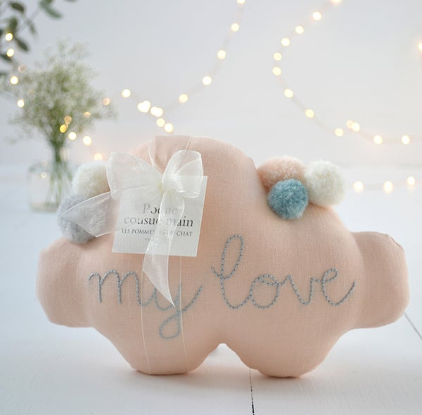 "Image of Nuage ""my love"" pêche"