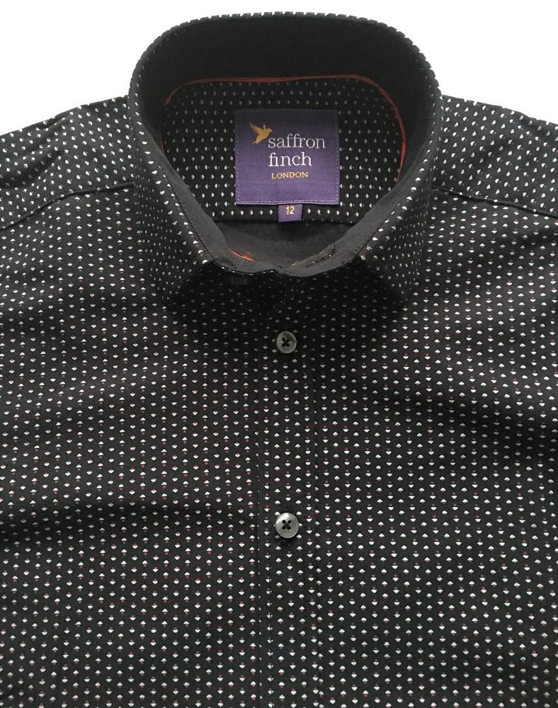 Image of Multi Print Black Party Shirt