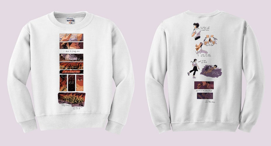 "Image of Mitski ""A Burning Hill"" Sweatshirt (PREORDER)"