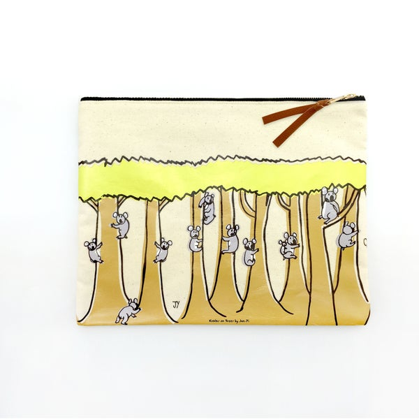 Image of Canvas Pouch - Koalas on Trees