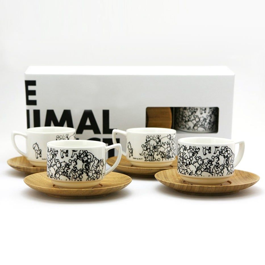 Image of Espresso Cup Set (Set of 4) - Koalas