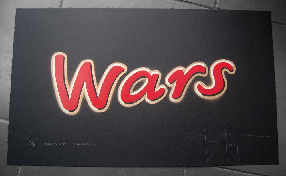Image of WARS - ARTIST PROOF - 4 layer hand stencil (not printed)