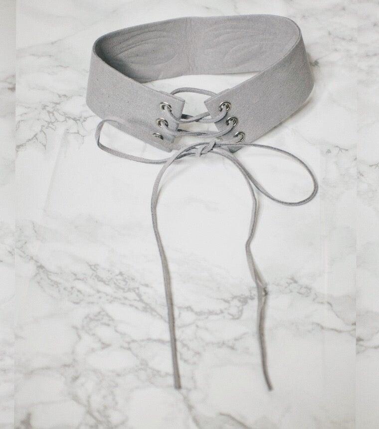 Image of Grey Suede Choker