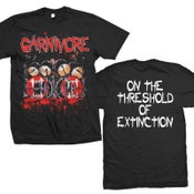 """Image of CARNIVORE """"On The Threshold Of Extinction"""" T-Shirt"""