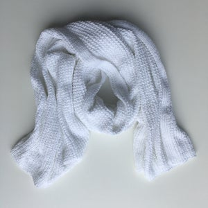 Image of White Knit Wrap