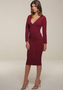 Image of Kelsey Midi Dress Red