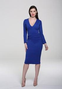 Image of Kelsey Midi Dress Blue