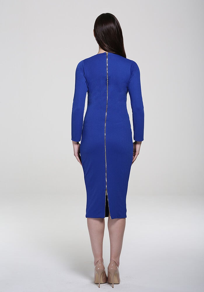 Image of Kelsey Midi Dress Blue
