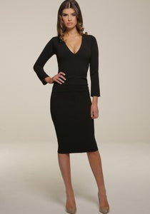 Image of Kelsey Midi Dress Black