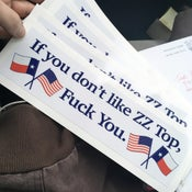Image of 'If You Don't Like ZZ Top Fuck You' Bumper Sticker