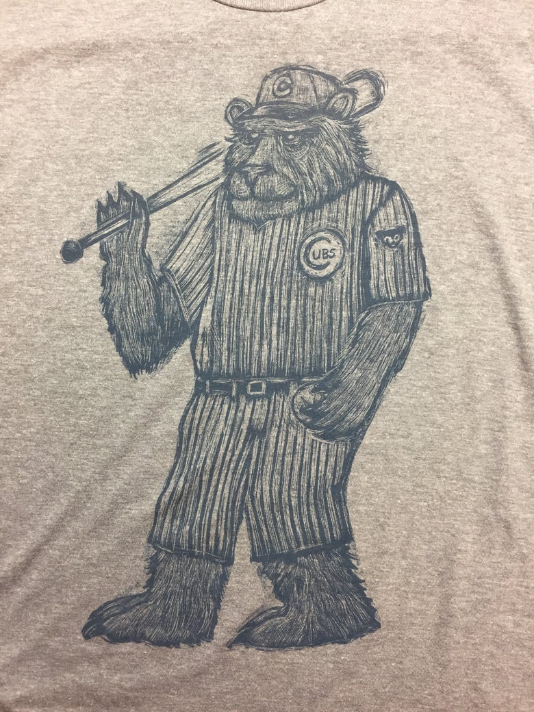Image of Hexbreaker Cubs Tee Heather grey