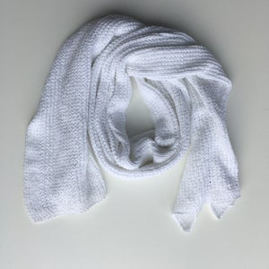 Image of White Knit Scarf