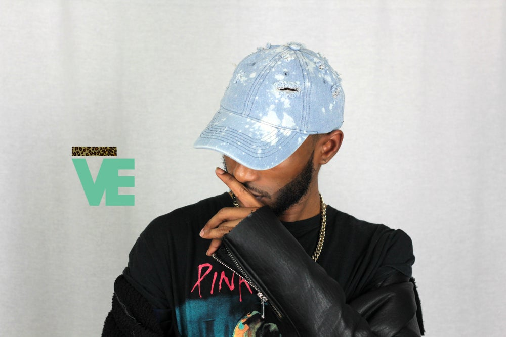 Image of Distressed Denim Dad Hat