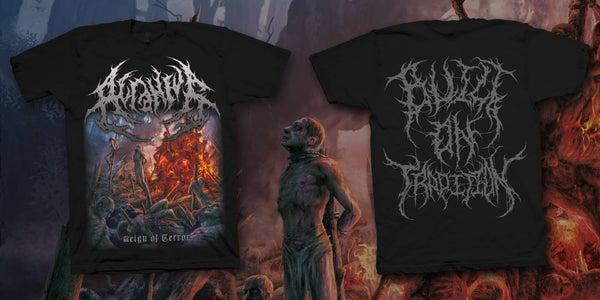 Image of ACRANIUS - Reign of Terror Artwork T-Shirt [pre-order]