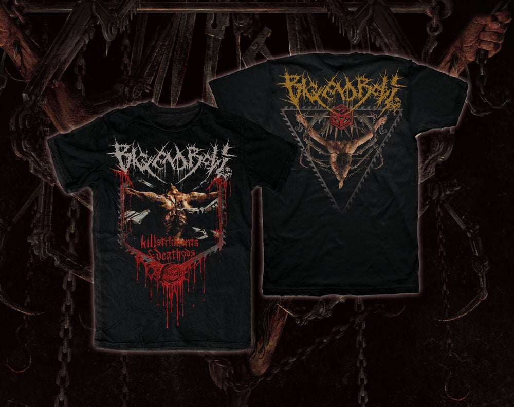 Image of BIG END BOLT - Killstruments & Deathods T-Shirt [pre-order]